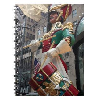 Caderno Espiral Natal Center New York do menino do baterista de
