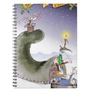 Caderno Espiral Natal feliz de yorkshire do amor