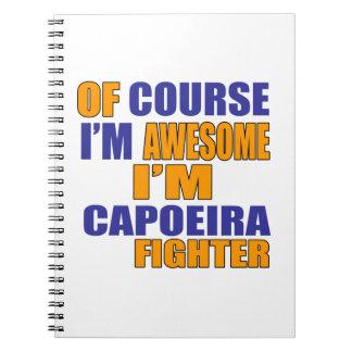 Caderno Espiral Naturalmente eu sou lutador de Capoeira