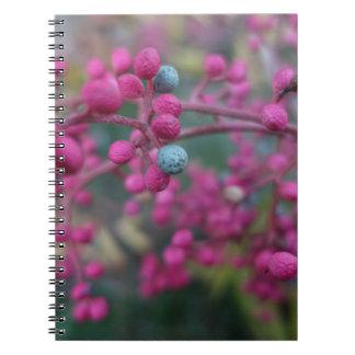 Caderno Espiral Natureza cor-de-rosa