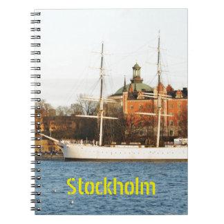 Caderno Espiral Navegando em Éstocolmo, suecia