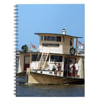 Caderno Espiral Navio a vapor de pá, Goolwa, Austrália