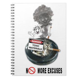 Caderno Espiral NENHUM fumo da parada das DESCULPAS