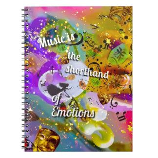 Caderno Espiral Nenhuma necessidade de falar entre notas musicais