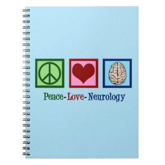 Caderno Espiral Neurologia do amor da paz - neurologista