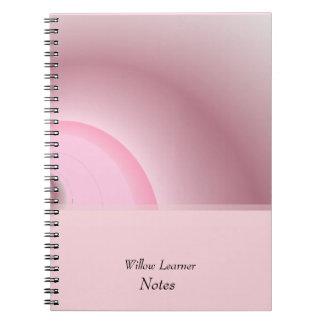 Caderno Espiral No rosa notas personalizadas