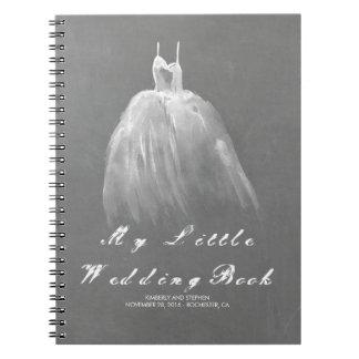 Caderno Espiral Noiva do vestido de casamento a ser vintage