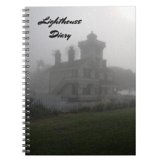 Caderno Espiral Nota do diário do farol do viagem do livro do