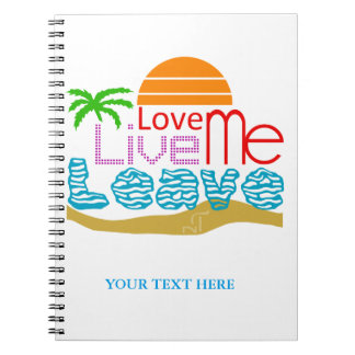 Caderno Espiral Notebook Valentine - Sea, sun, beach