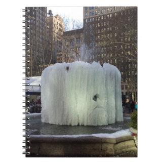 Caderno Espiral Nova Iorque congelada NYC do parque de Bryant da