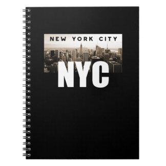 Caderno Espiral Nova Iorque de NYC. Skyline. América, EUA