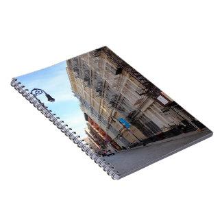 Caderno Espiral Nova Iorque NYC da arquitetura de SoHo da rua de