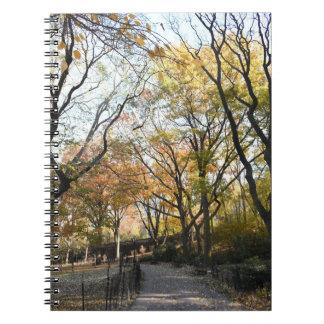 Caderno Espiral Nova Iorque NYC do parque do beira-rio das folhas