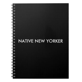 Caderno Espiral Nova-iorquino nativo