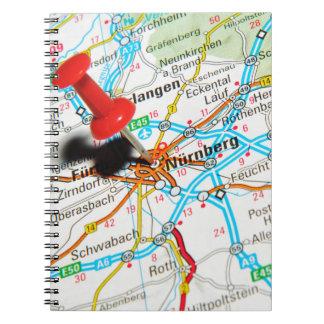 Caderno Espiral Nuremberg, Nürnberg Alemanha