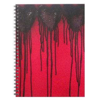 Caderno Espiral O amor sangra o preto