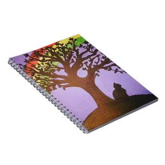 Caderno Espiral O arco-íris de Salem