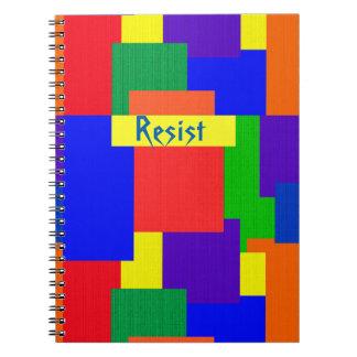 Caderno Espiral O arco-íris do design da edredão de retalhos