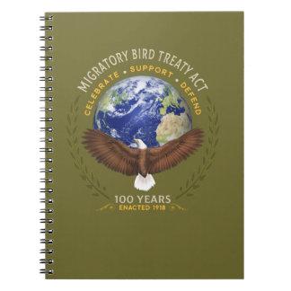 Caderno Espiral O ato do Tratado das aves migratórias - 100 anos