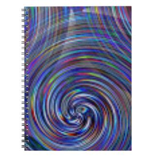Caderno Espiral O azul roda teste padrão da cor