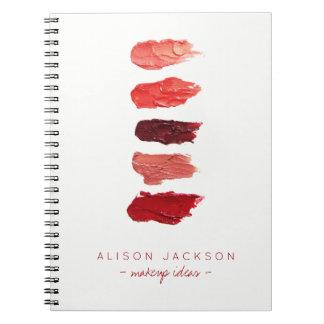 Caderno Espiral O batom minimalista simples colore chacinas