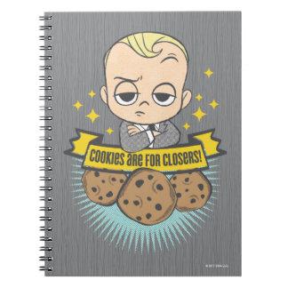 Caderno Espiral O bebê & os biscoitos do bebê | do chefe são para