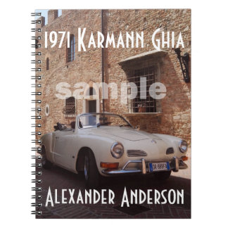 Caderno Espiral O costume do coletor do carro vintage