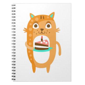 Caderno Espiral O gato com partido atribui a WTI Funky estilizado