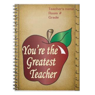 Caderno Espiral O grande professor