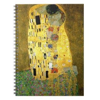 Caderno Espiral O ~ Gustavo Klimt do beijo