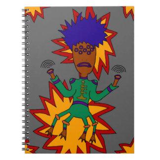Caderno Espiral O homem marciano do jazz