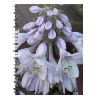 Caderno Espiral O Hosta floresce floral