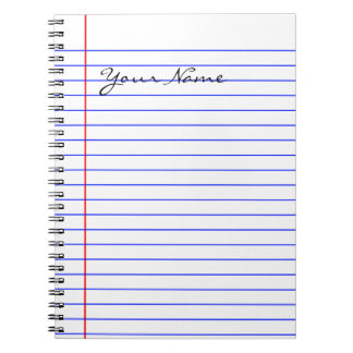 Caderno Espiral O livro alinha (pnha seu nome)