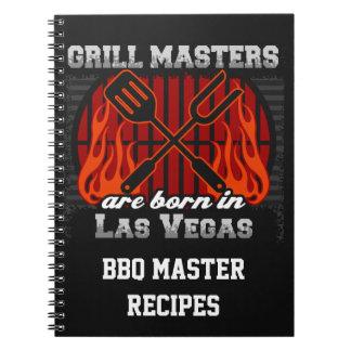 Caderno Espiral O mestrado da grade é nascido em Las Vegas Nevada