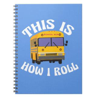 Caderno Espiral O motorista de auto escolar engraçado isto é como