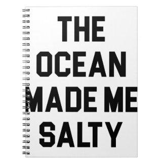 Caderno Espiral O oceano fez-me salgado