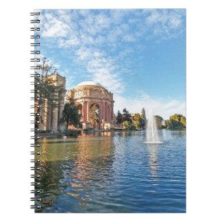 Caderno Espiral O palácio das belas artes Califórnia