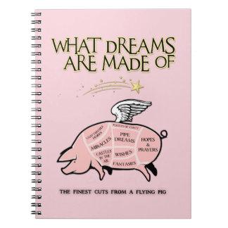 Caderno Espiral O porco do vôo Corte-Que sonha é feito de