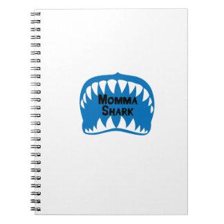 Caderno Espiral O presente do tubarão para a mamã sere de mãe a
