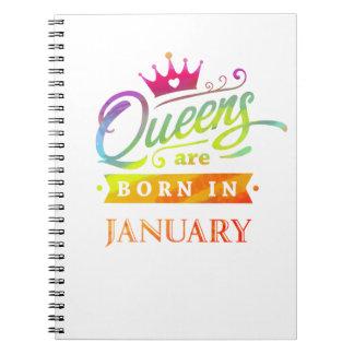 Caderno Espiral O Queens é em janeiro presente de aniversário