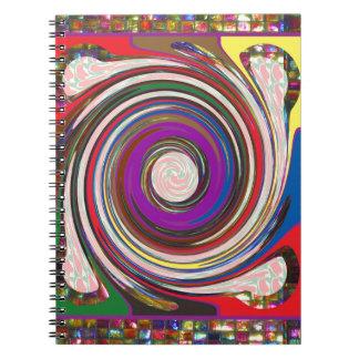 Caderno Espiral O remoinho HighTide do furacão acena a arte