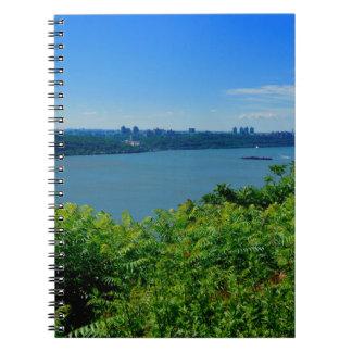 Caderno Espiral O Rio Hudson com NYC