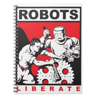 Caderno Espiral O robô ajusta-o livre