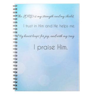 Caderno Espiral O senhor é minha força & meu protetor