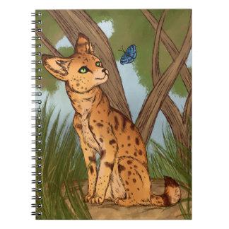 Caderno Espiral O Serval e a borboleta