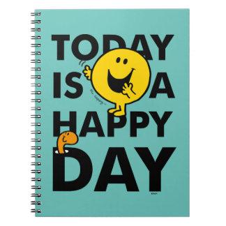 Caderno Espiral O Sr. Feliz | é hoje um dia feliz