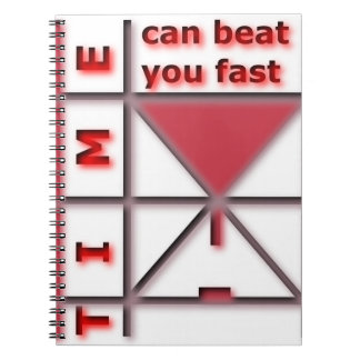 Caderno Espiral O tempo pode batê-lo rapidamente