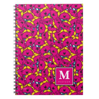 Caderno Espiral O teste padrão cor-de-rosa brilhante | adiciona