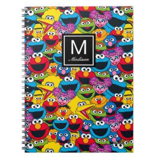 Caderno Espiral O teste padrão | do grupo do Sesame Street