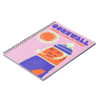 """Caderno Espiral O vintage do pescador de Cornualha """"toma poster de"""